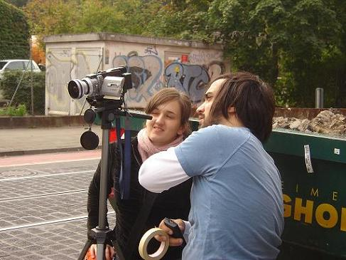 Julia and frederico filming in Linden